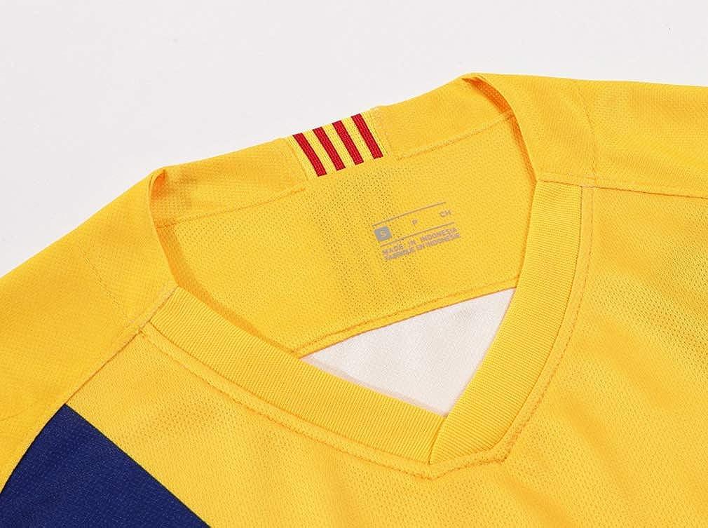 Kaner Mongkok Barcelona 2019-2020 New Season Messi #10 Away Kids//Youths Soccer Jersey /& Shorts /& Socks Yellow 6-13years