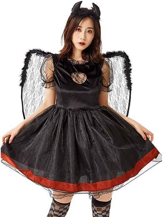JIANG BREEZE Disfraz de Cosplay de Halloween Fashion Women Devil ...