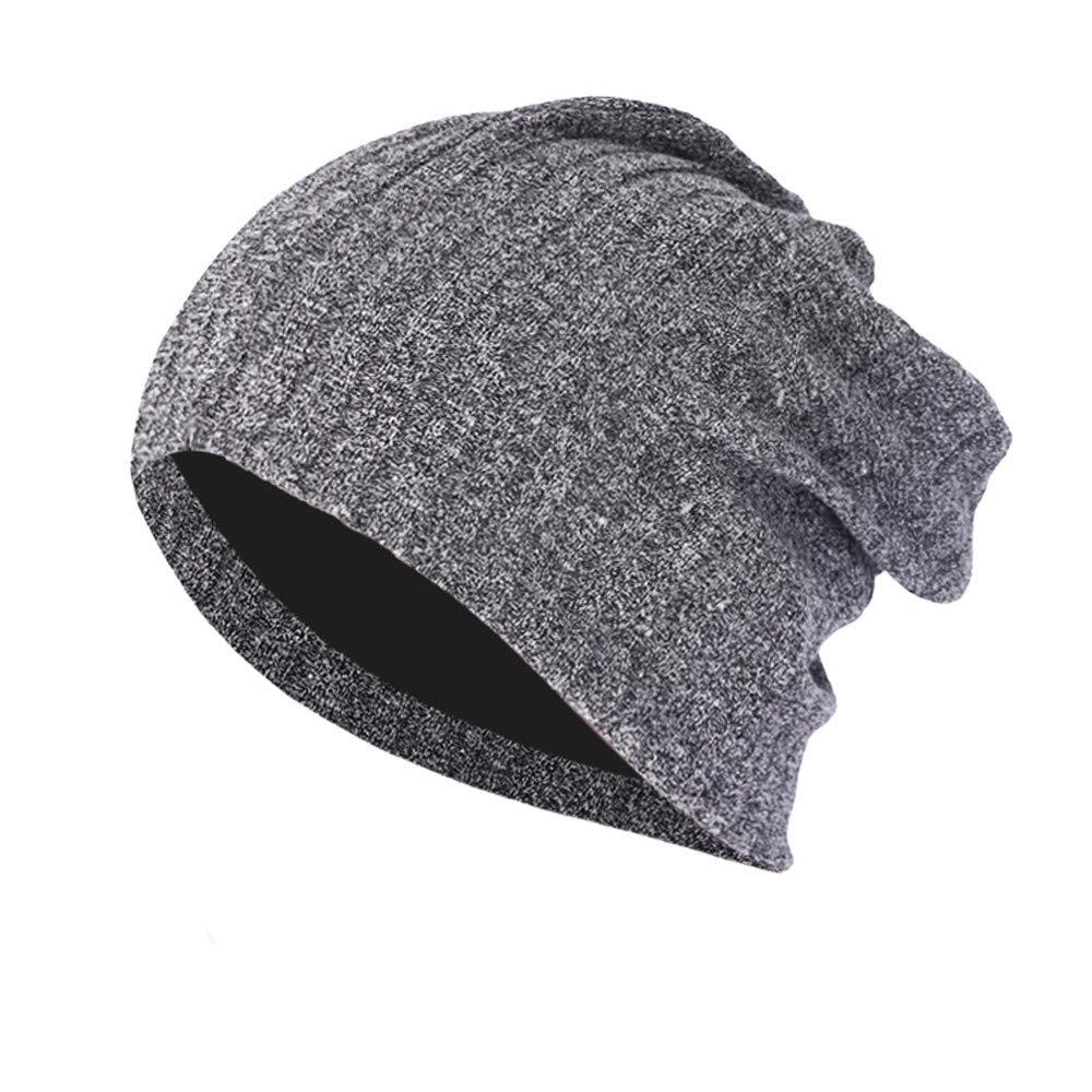 Baggy Warm Caps Hat for Men Women, Sttech1 Crochet Winter Wool Knit Ski Beanie Skull Slouchy Hat (Black)