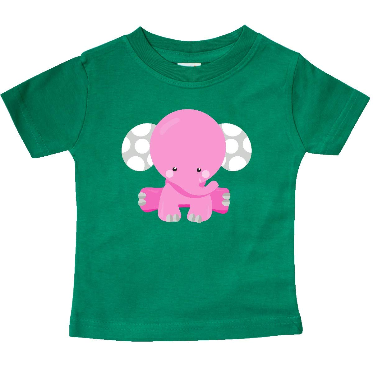 inktastic Pink Elephant with Dotted Ears Baby Elephant Baby T-Shirt