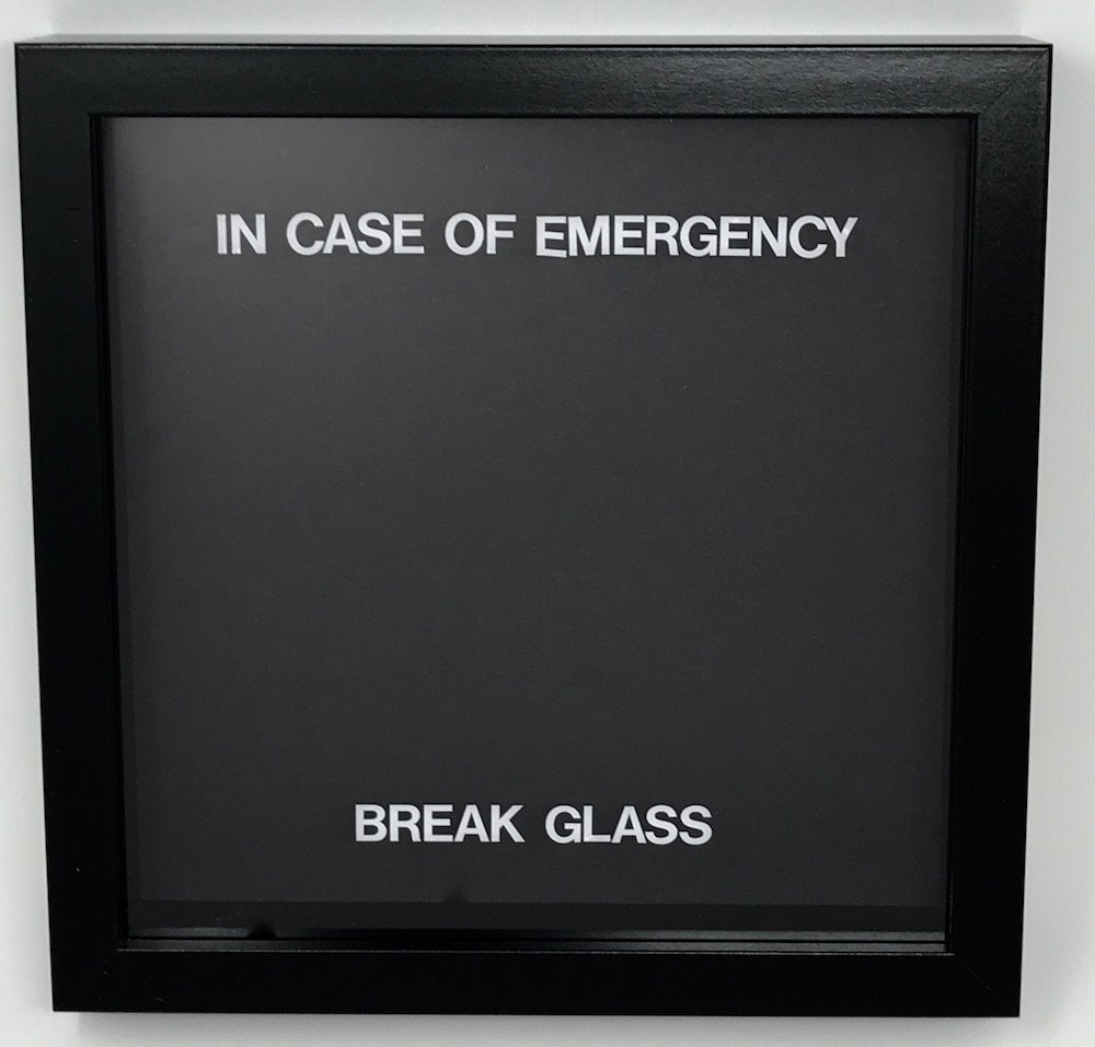 Marco para regalar «In case of emergency break glass» Vacío para llenarlo con lo que quieras: Amazon.es: Hogar