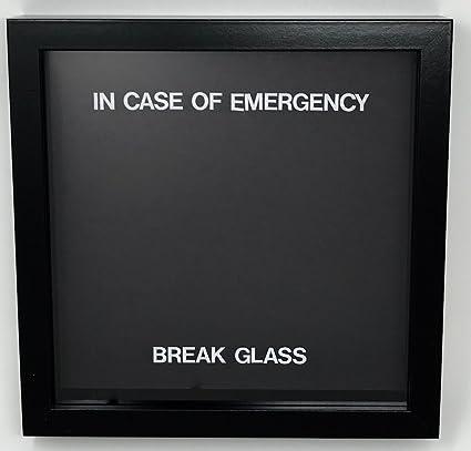 Marco para regalar «In case of emergency break glass» Vacío para