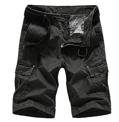Bstge Mens Regular Fit Athletic Cargo Shorts