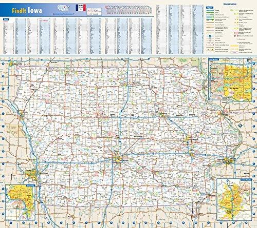 Iowa State Wall Map - 20.75