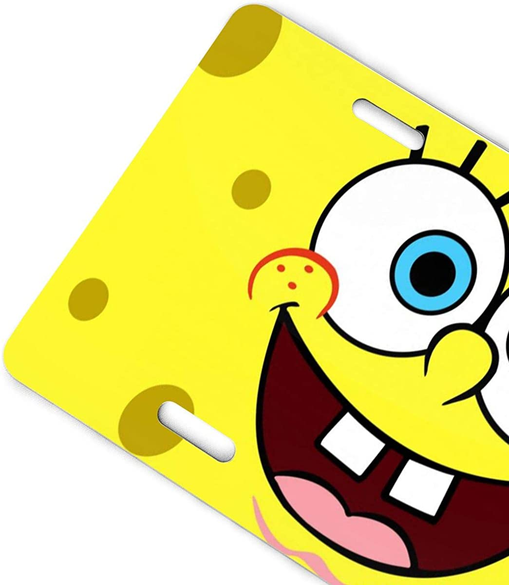 Meirdre Aluminum License Plates Patrick Star and Spongebob License Plate Tag Car Accessories 12 X 6 Inches
