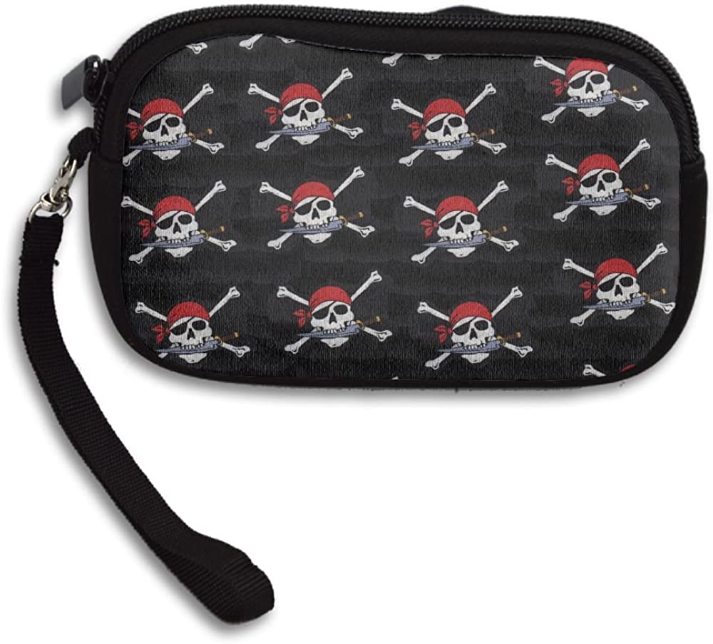 Pirate Skull Deluxe Printing Small Purse Portable Receiving Bag
