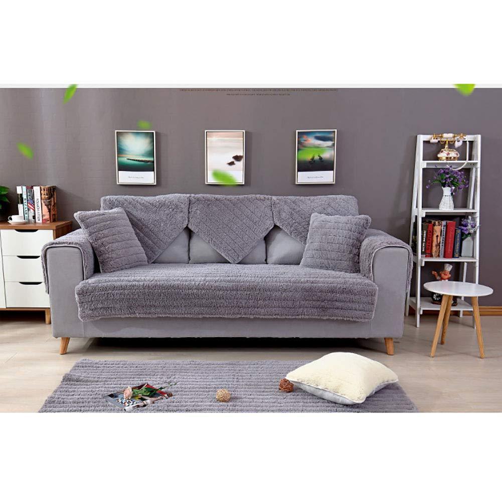 Amazon.com: SANDM Thicken Plush Sofa Cover 3 Seater, Winter ...