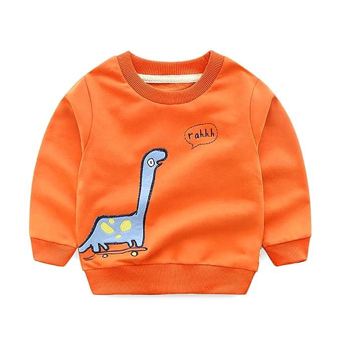 ARYYX Sudaderas para Niños Dinosaurio Pull-Over Invierno Casual Algodón Camisetas de Manga Larga Chico