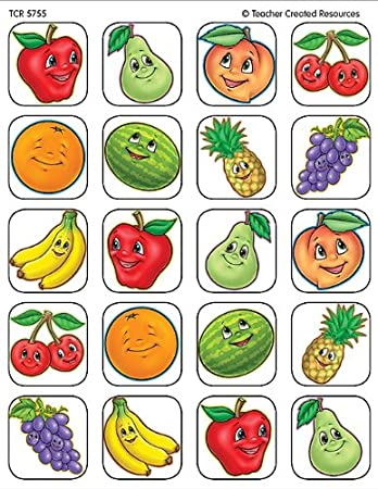 Teacher Created Resources Fruits Stickers 5755
