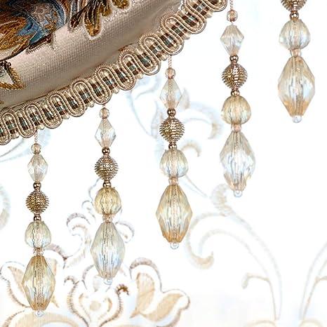 # 25 Wildgirl Curtain Macrame Braid Crystal Bead Pendant Gimp 1 Meter