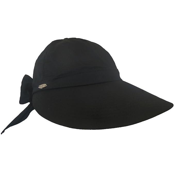 619bd433468e14 Amazon.com : Black Ladies Visor Hat - Womens Golf Hats - Women's ...