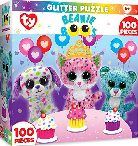 MasterPieces Ty Beanie Boo Sprinkles Club - 100 Piece Glitter Kids Puzzle