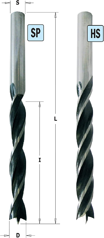 Punta elicoidale Z2/SP D = 9/x 80/x 120-dx