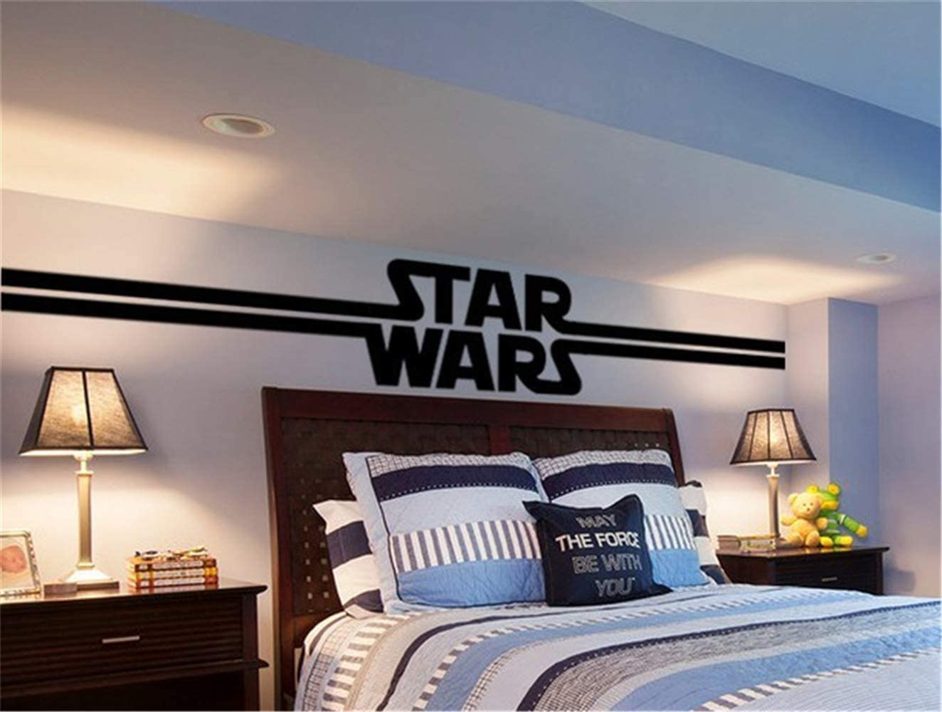 Pqzqmq Star Wars Wall Decal Stickers for Bedroom Living Room