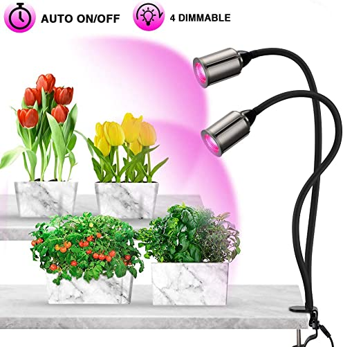 75W LED Grow Lights for Indoor Plants, Bozily Full Spectrum Sunlike Plant Lights 3 6 12 24H Timing 5 Dimmable Levels, Artificial Sunlight Lamp for Seedling Growing Blooming Fruiting