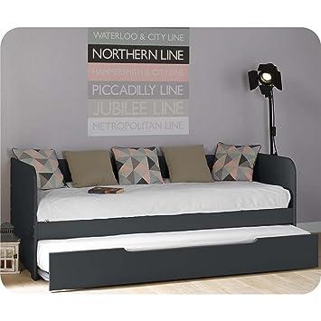 Del Paquete cama extensible Bali gris 80 x 200 cm con 2 colchones: Amazon.es: Bebé