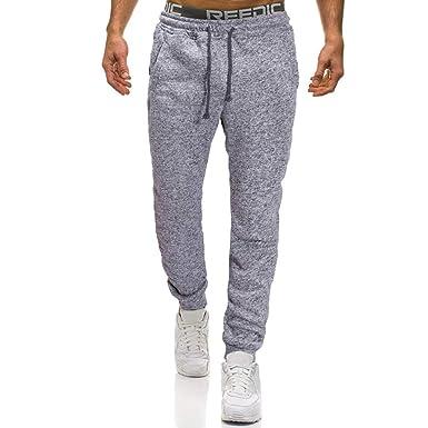 0834e27f6e8fe Cebbay Pantalon Homme Combinaison Casual Solide Poche Confortable ...