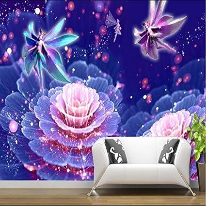 Shah Moda 3d Wallpaper Foto Fiori Viola 3d Soggiorno Parete Di