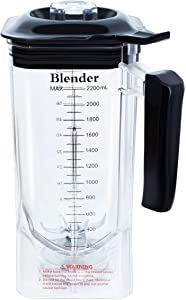 WantJoin Professional Commercial Blender Cups for Shield Quiet Sound Enclosure 2200W Industries Strong and Quiet Professional-Grade Power (Plastic)