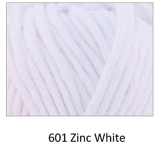 601 Blanco Zinc Cygnet Whopper Algodón Super hilo grueso 100g