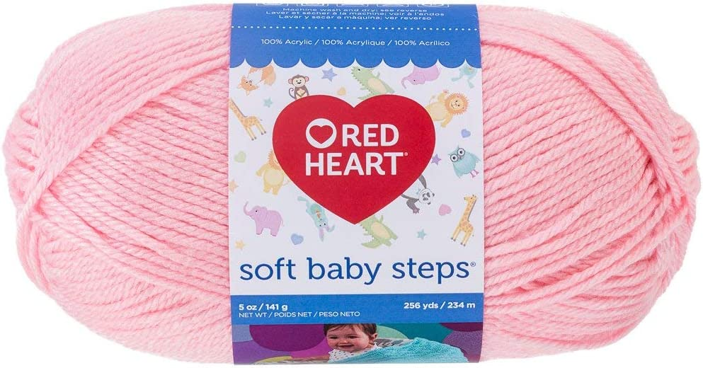 Red Heart Soft Baby Steps Yarn, Baby Pink (E746.9700)