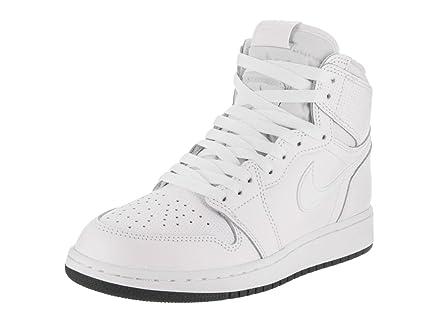 a2b7e72b6d5 Amazon.com: Nike Jordan Kids Air Jordan 1 Retro High OG Bg White ...