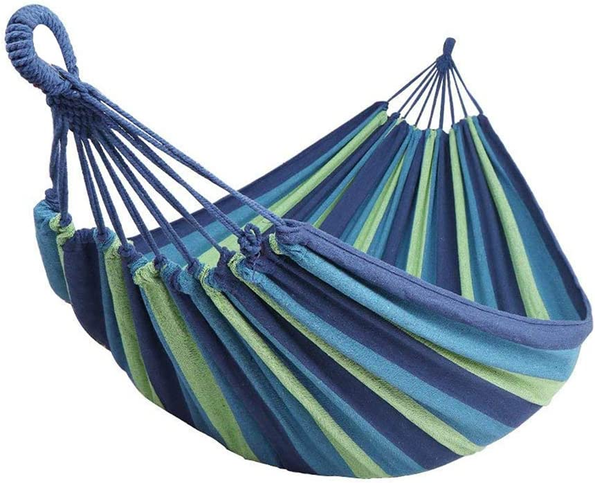Max 330 lbs Extra Long Double Camping Hammock with Tree Straps,78.7 X 59 Soft Woven Cotton with Capacity Portable 2 Person Hammock for Indoor Outdoor Backpacking Beach Backyard Hiking