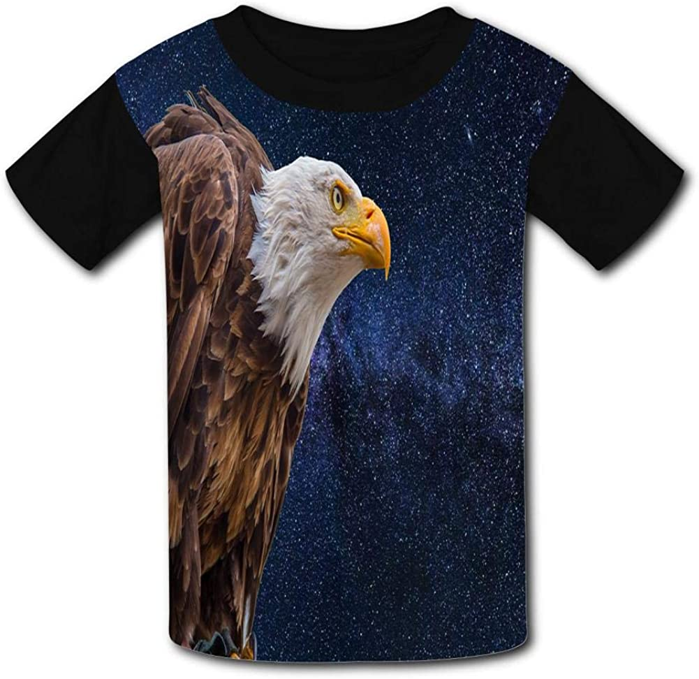 The Vast Star Blank Head Eagle Child Short Sleeve Fashion T-Shirt of Boys and Girls