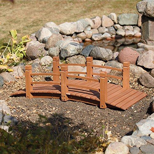Wooden Garden Bridge, Model# KMG100858-WP by Stonegate® (Image #3)