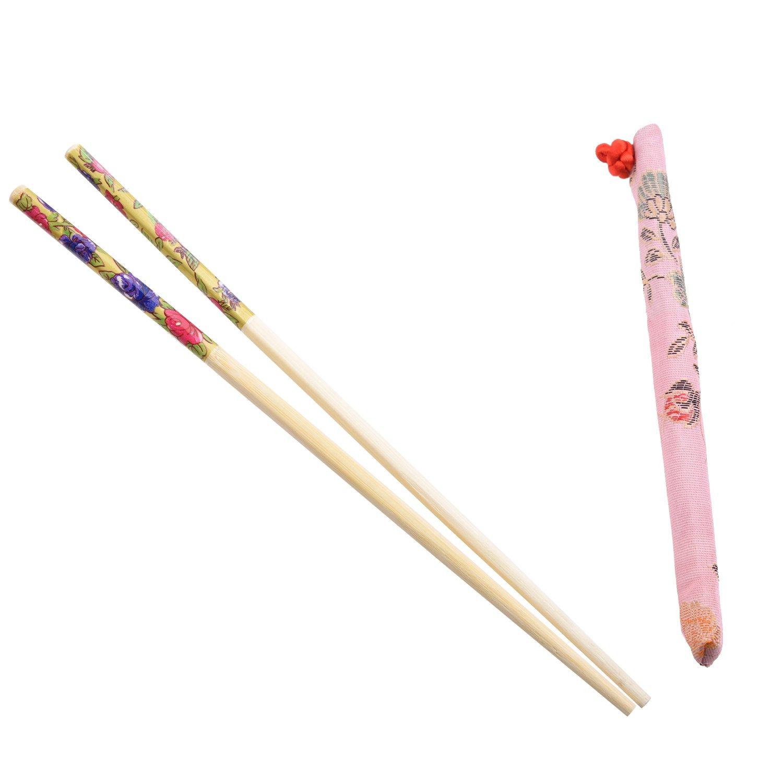 10 Pares de Palillos Chinos de Bambu