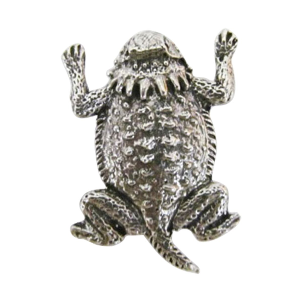 Creative Pewter Designs, Pewter Horny Toad / Short-Horned Lizard Lapel Pin Brooch, Antiqued Finish, A061