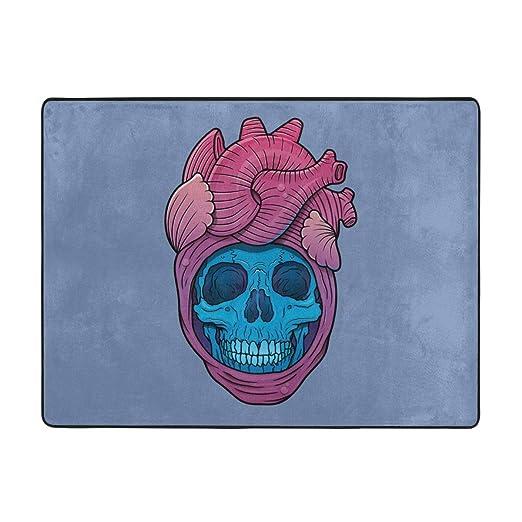 Csiemns Skullheart - Alfombra Antideslizante de Yoga para ...