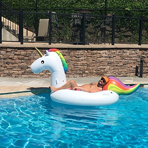 Inflatable Unicorn Pool Float Mugwomp
