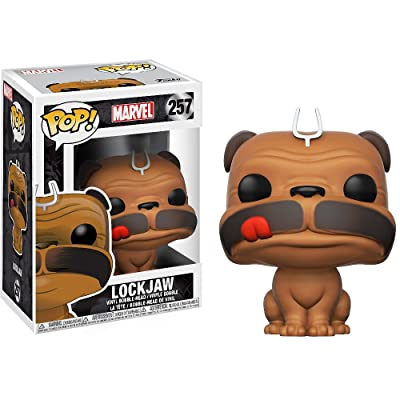 Funko Lockjaw: Inhumans x POP! Marvel Vinyl Figure & 1 POP! Compatible PET Plastic Graphical Protector Bundle [#257 / 20237 - B]: Toys & Games