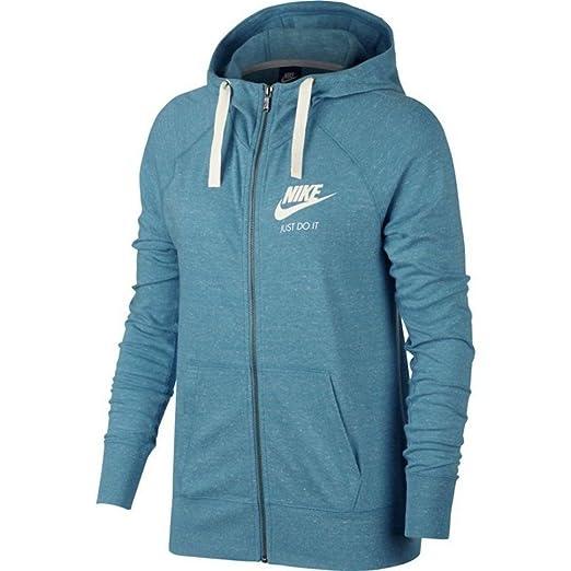 e3f2ba4b670 Nike Women s Plus Size Gym Vintage Full Zip Hoodie Jacket (1X) Blue