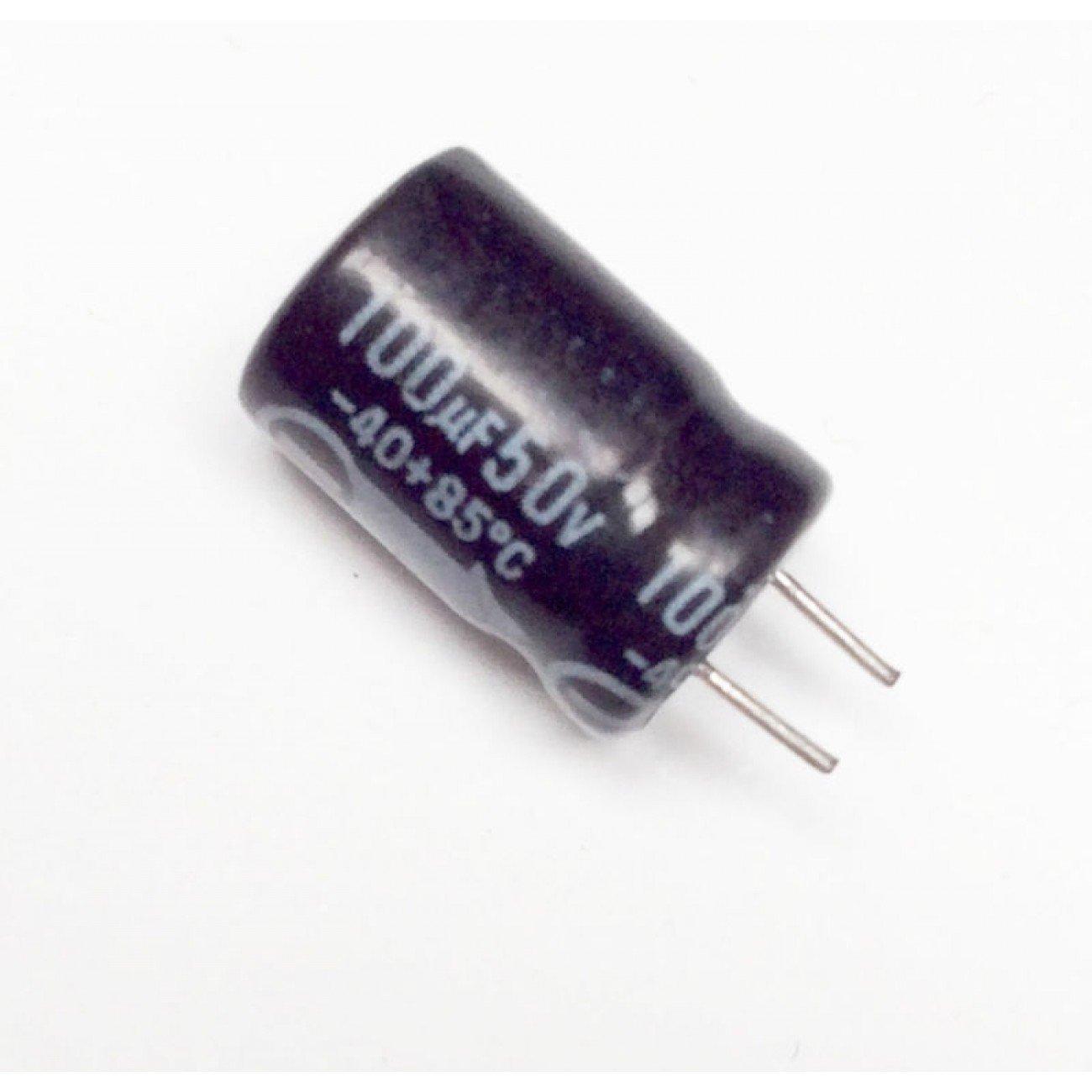 2 pezzi Condensatore Elettrolitico 100uF 50V 85°C Radiale 8x13mm