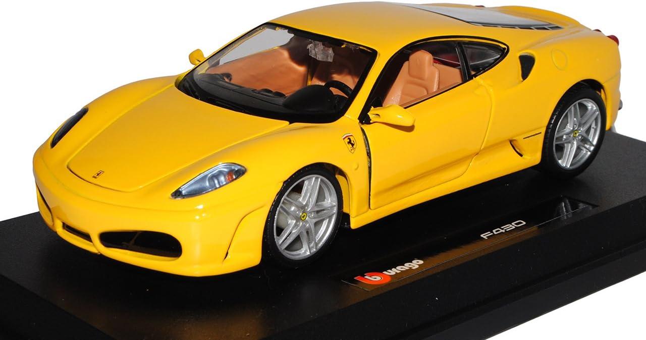 Ferrari F430 Coupe Gelb 2004-2009 1//24 Bburago Modell Auto mit oder ohne individ
