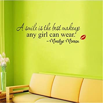 Amazon.com : CH A Smile Is The Best Makeup Any Girl Can Wear Home ...
