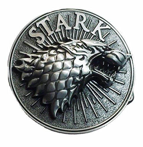 (Game of Thrones Stark Embossed Pewter Symbol Logo Metal Belt Buckle )