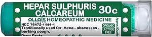 OLLOIS Organic, Lactose-Free Homeopathic Medicines, Hepar Sulphuris Calcareum 30C Pellets for Acne, 80 Count