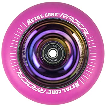 Metal Core Rueda Radical Rainbow para Scooter Freestyle, Diámetro 100 mm (Rosa): Amazon.es: Deportes y aire libre