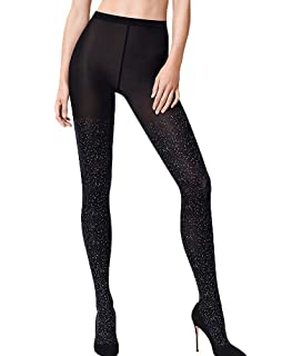 63300d1512e Wolford Women s Sparkle Stripe Tights at Amazon Women s Clothing store