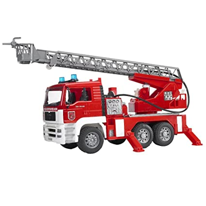 Bruder 2771 MAN TGA Fire Engine with Water Pump Light and Sound Module Doll Vehicles at amazon