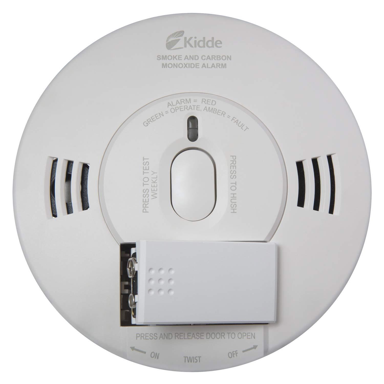 Kidde 21028499 DC Smoke and Carbon Monoxide Alarm Detector with TruSense Technology | Front Load Battery | Voice Notification | Model 2070-VDSCR, White by Kidde