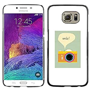 LECELL--Funda protectora / Cubierta / Piel For Samsung Galaxy S6 SM-G920 -- Camera Smile Photographer Poster Vignette --