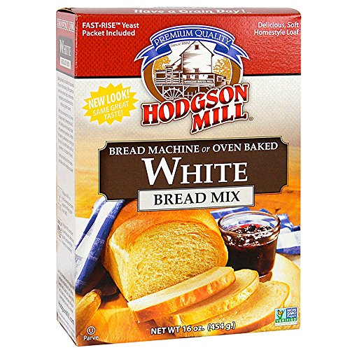 (Hodgson Mill White Bread Mix, 16-Ounce Boxes (Pack of 6), Bread Mix for Bread Machines or Make in the Oven, Bake...)