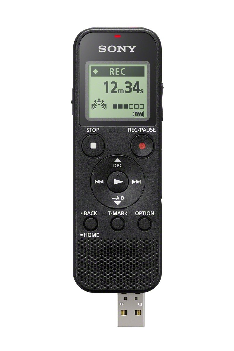 Sony ICDPX370 Mono Digital Voice Recorder with Built-in USB, black by Sony