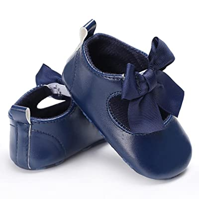 Enjocho 2020 New Spring Autumn Baby Girls Bowknot Princess Soft Sole Shoes Toddler Sneakers Casual Shoes (Age:6~12 Month, Navy): Garden & Outdoor