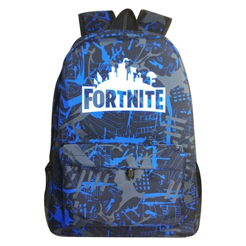 Fortnite Battle Galaxy Shoulder back Bag  School Bag Girls Boys Blue