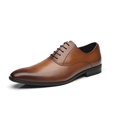 Faranzi Men Dress Shoes Lace Up Zapatos De Hombre Comfortable Classic Modern Formal Business Oxford Shoes For Men